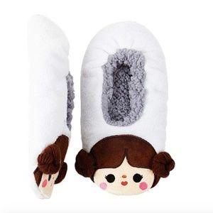 Princess Leia Character No Slip Soft Slipper Socks